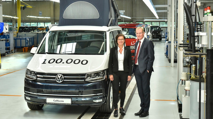 VW celebrates 100,000th California at its Hannover plant