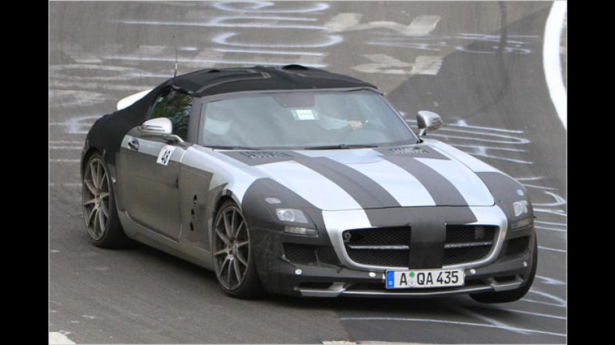 Gestutzte Flügel: Mercedes SLS Roadster erwischt