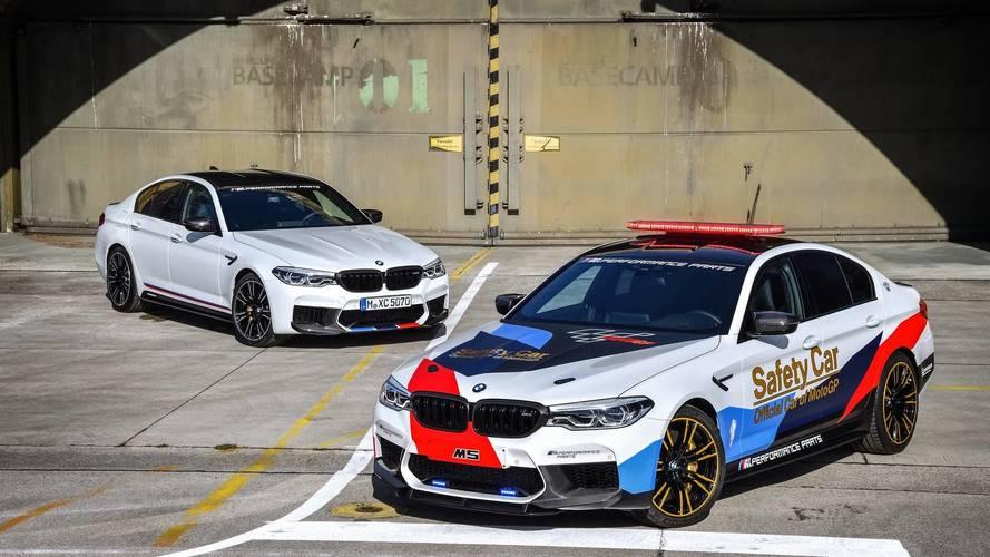 BMW M5 MotoGP güvenlik aracı M Performance parçalarıyla tanıtıldı