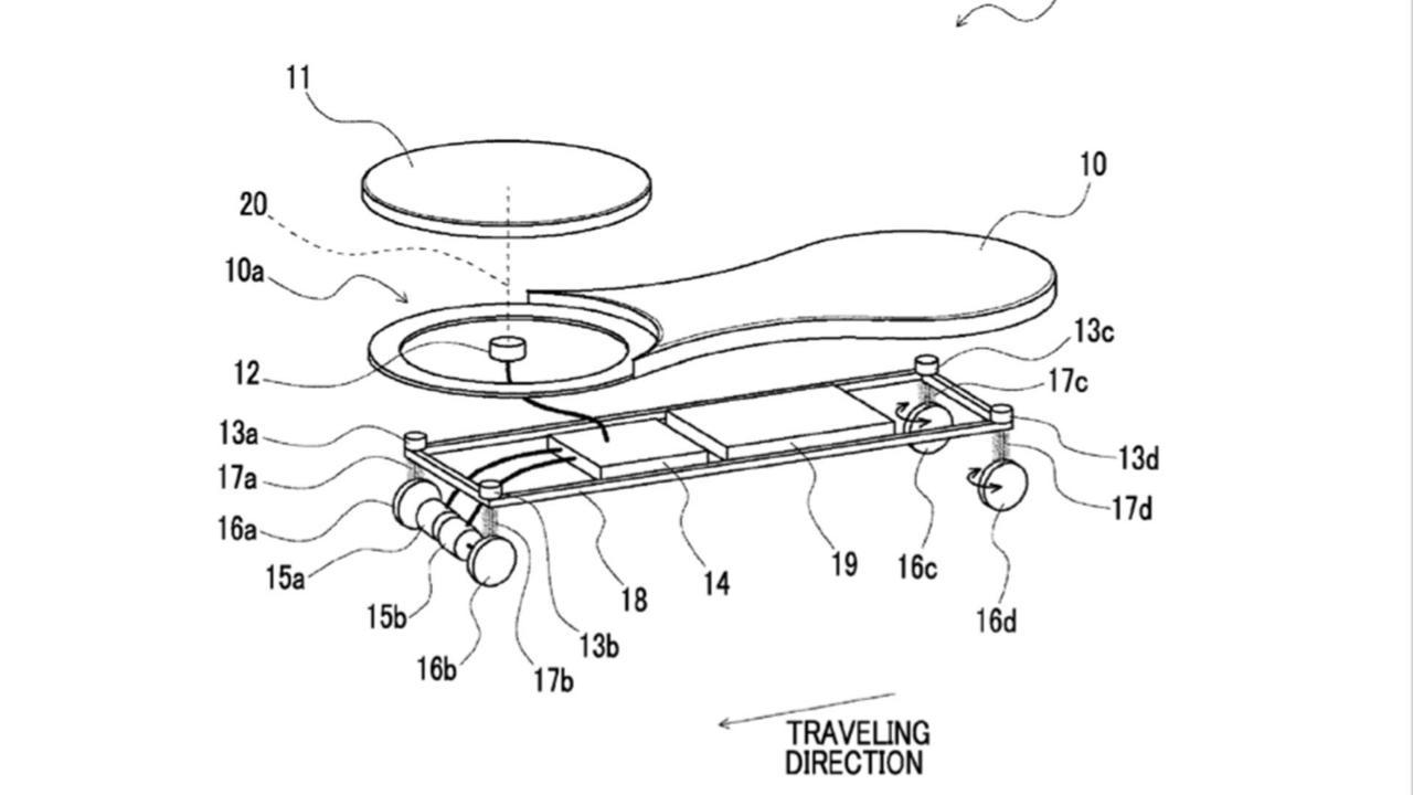Toyota Skateboard Patent