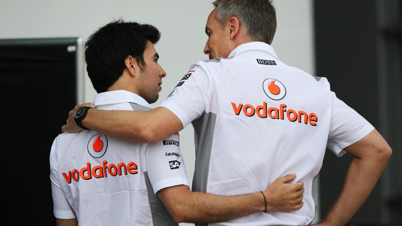 Sergio Perez with Martin Whitmarsh 13.04.2013 Chinese Grand Prix