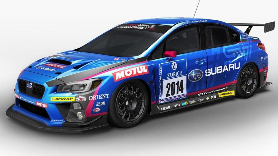 Subaru WRX STI race car revealed for 24 Hours Nurburgring endurance race