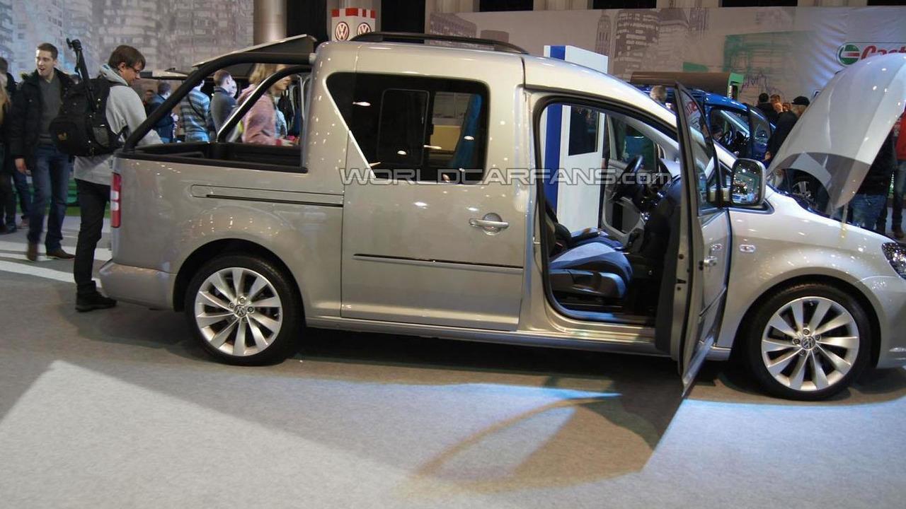 Volkswagen Caddy Pickup Concept live at Poznan Motor Show 08.4.2013