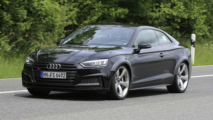 Audi RS 5 test mule hides turbo heart