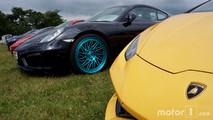Lamborghini Aventador and Porsche 911 at 2017 Goodwood Festival of Speed