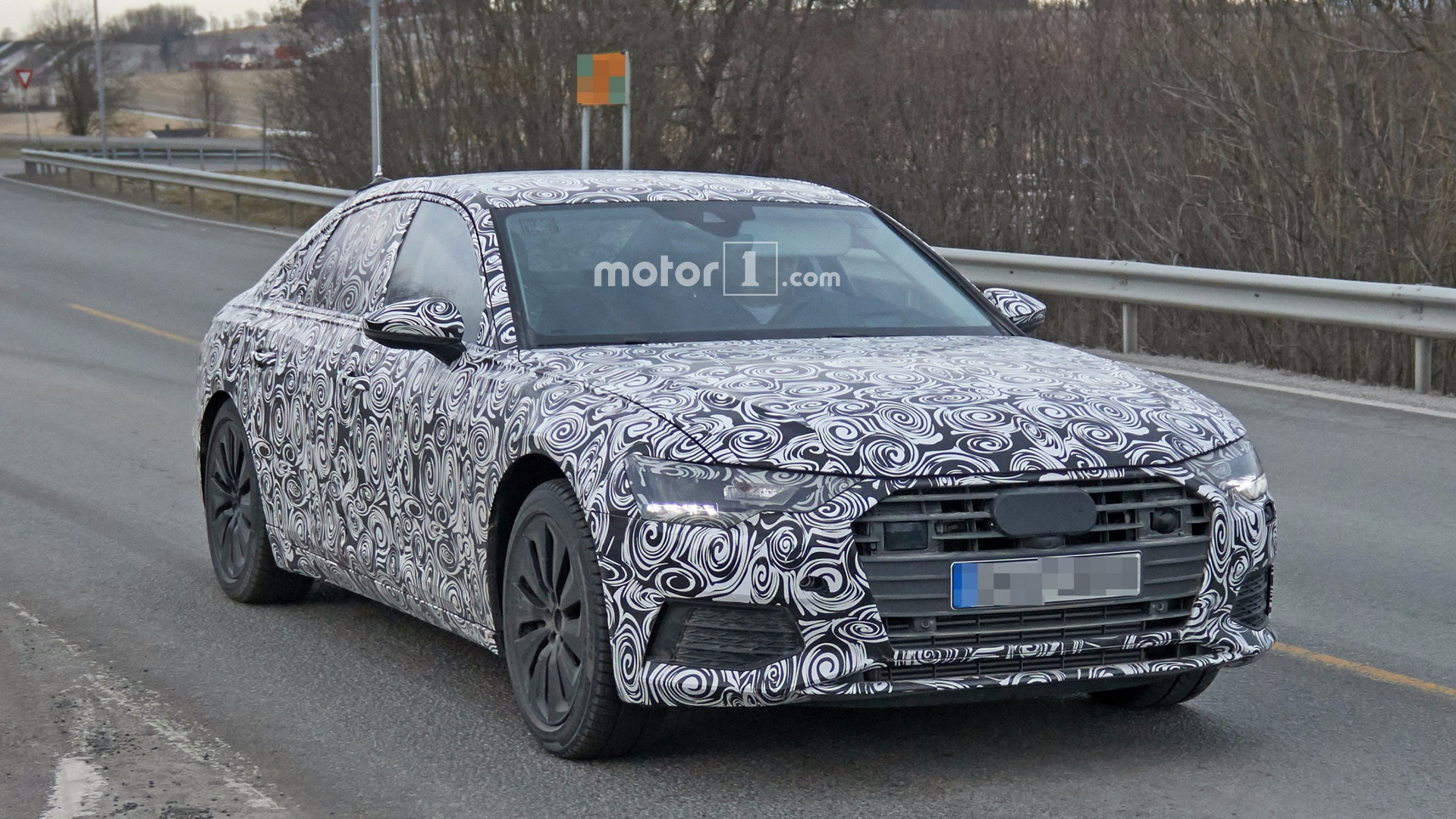 2019 audi a6 spied for the first time. Black Bedroom Furniture Sets. Home Design Ideas