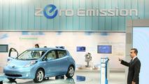 Nissan Leaf EV live in Tokyo