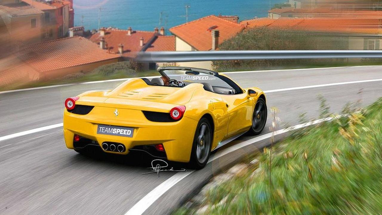 Ferrari 458 Spider artist rendering, 1024, 22.07.2011