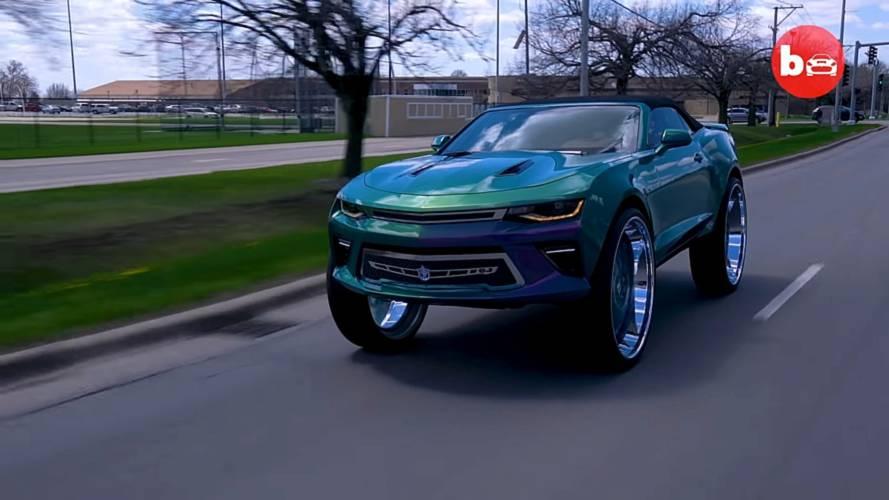 Model Cars For Sale >> 2016 Chevy Camaro Convertible on 32-inch Forgiato Blocco ...