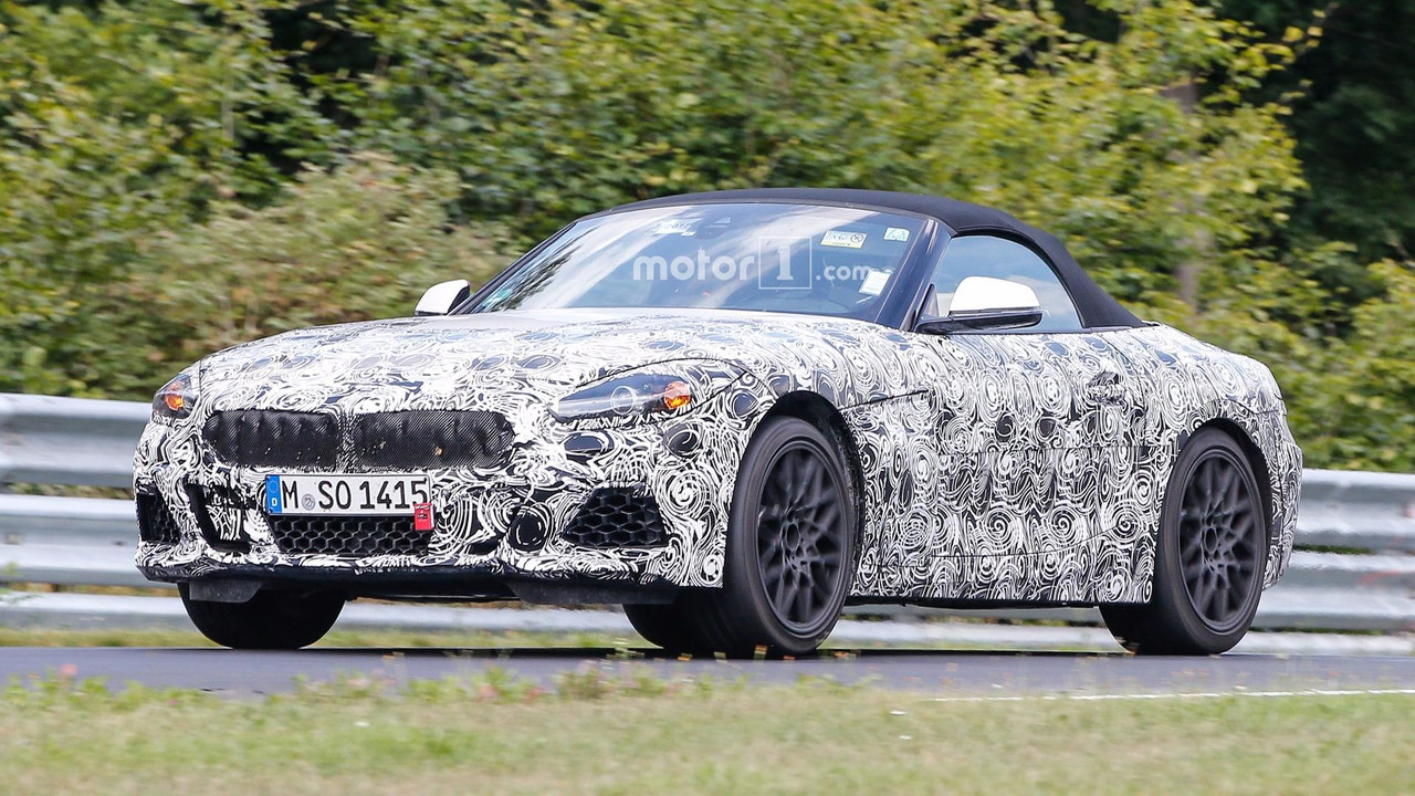 2018 bmw z4 seen at the nurburgring riding high. Black Bedroom Furniture Sets. Home Design Ideas