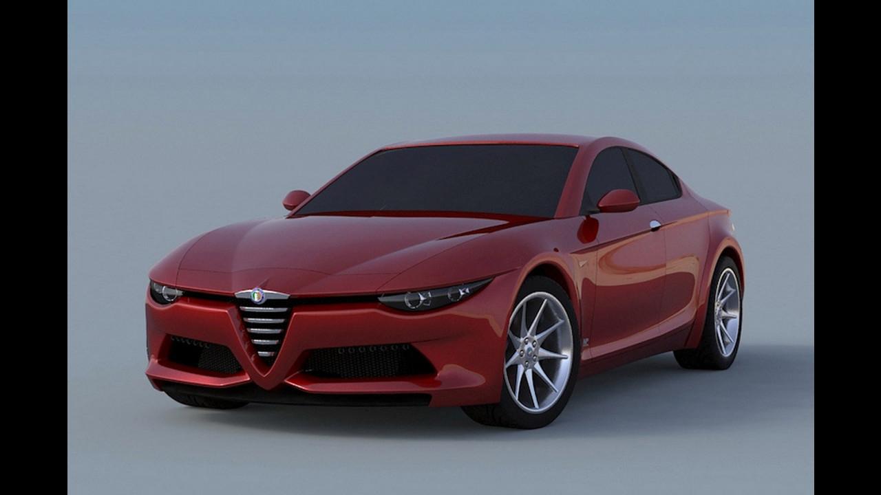 Alfa Romeo Giulia, i rendering di MPcardesign