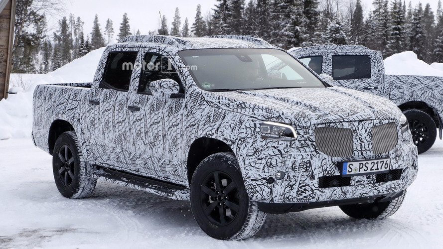 Mercedes X-Class headlights revealed in new spy shots