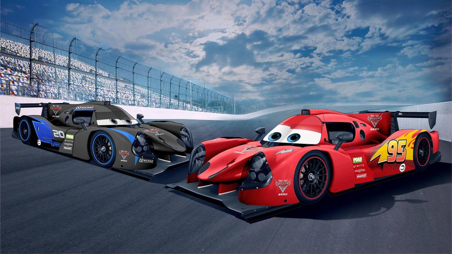 LMP3 Race Cars Get Lightning McQueen, Jackson Storm Liveries
