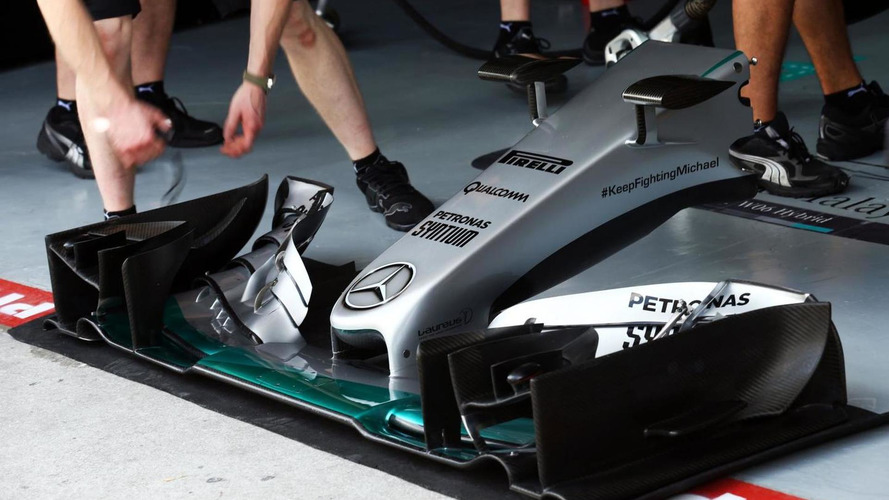 Mercedes takes new front wing to China - report