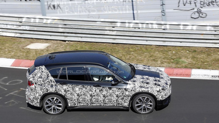 Second generation BMW X1 spied testing on the Nurburgring