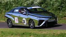 Toyota Mirai competes at Gurston Down Speed Hill Climb