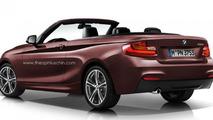 BMW 2-Series Cabrio render 28.10.2013