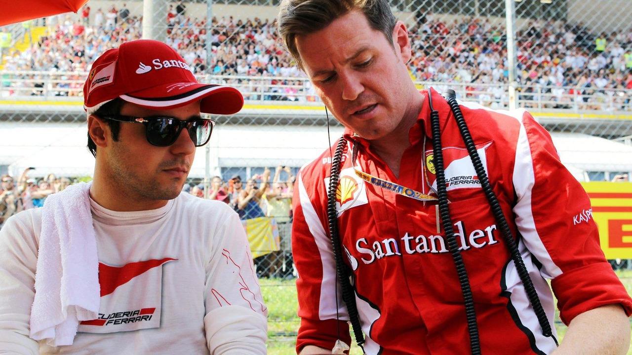 Felipe Massa with Rob Smedley 09.09.2012 Italian Grand Prix
