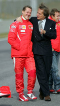 Michael Schumacher, Luca di Montezemolo, SF 248 F1 Launch 24.01.2006
