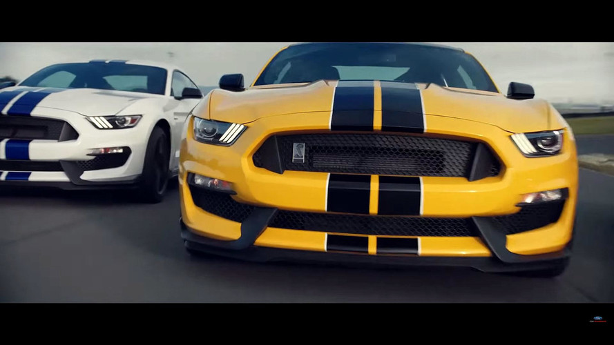 Ford Promotes Mustang GT350 By Showing 3 Of Them Sliding Around