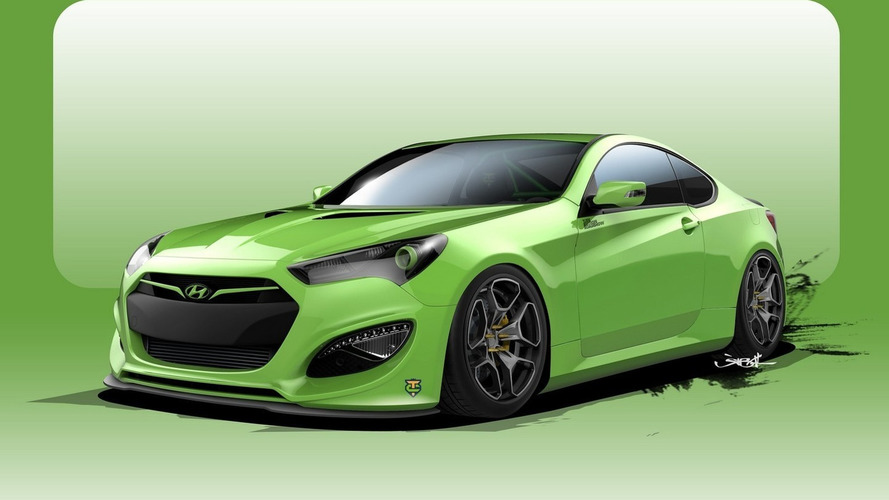 Hyundai Genesis Coupe Tjin Edition previewed ahead of SEMA reveal
