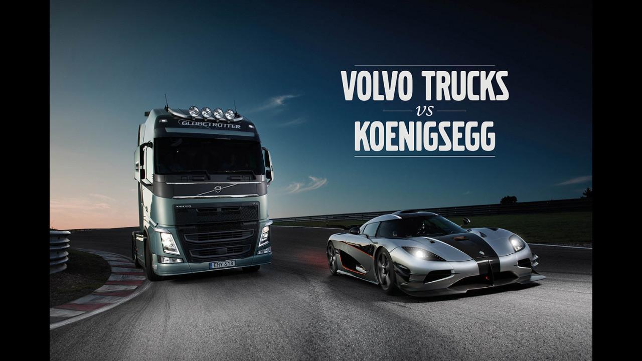 Volvo FH vs Koenigsegg One:1