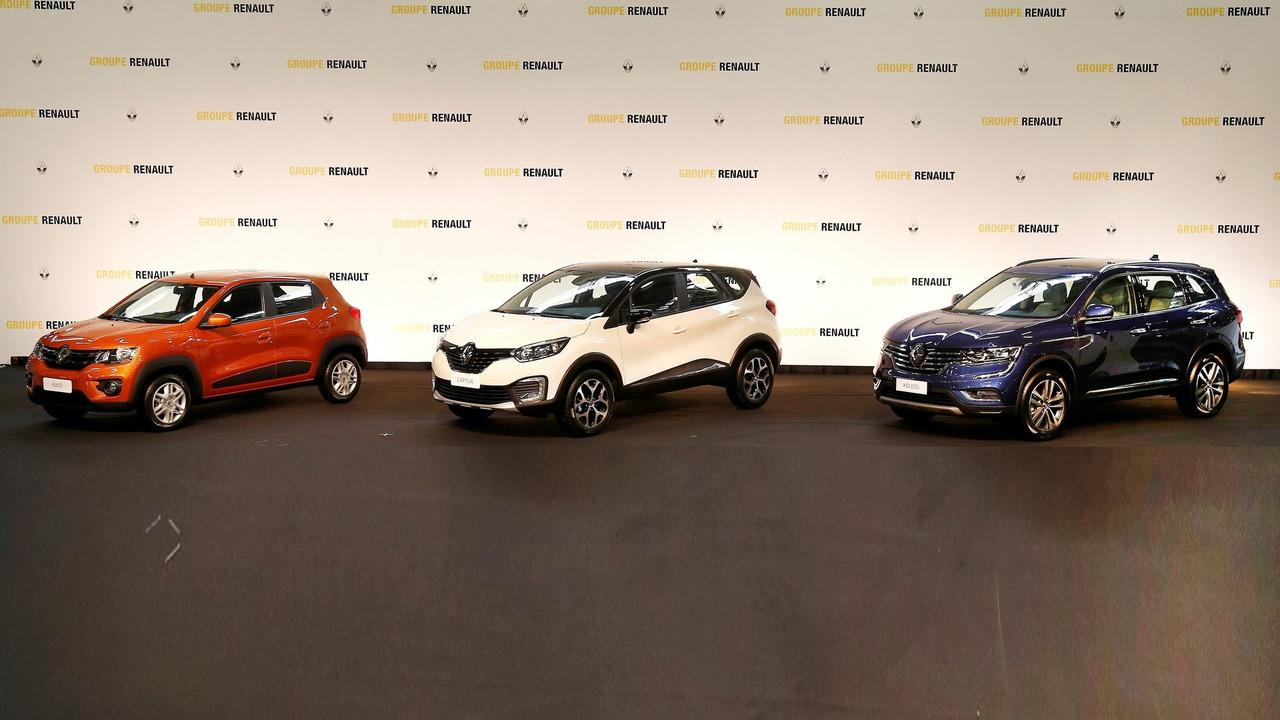 Renault Kwid, Captur, Koleos for Brazil
