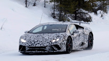 Lamborghini Huracan Superleggera Winter Spy Shots
