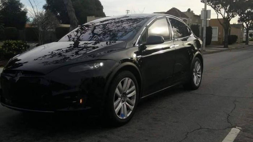 Tesla Model X spied hiding production headlights and taillights