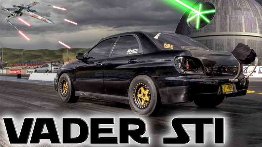 Karşınızda Drag Canavarı Subaru 'Darth Vader' STi