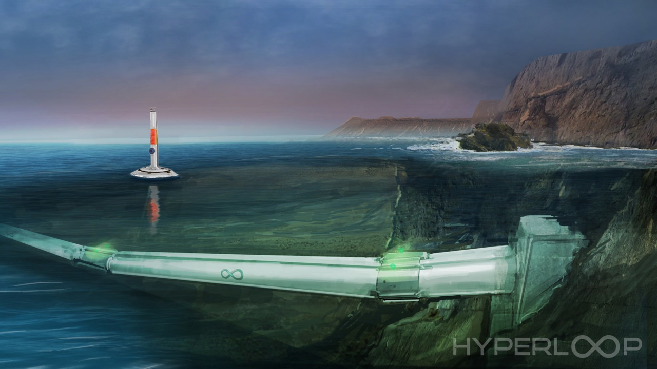 Hyperloop One underwater