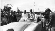 1937 – Jean-Pierre Wimille and Robert Benoist after winning Le Mans for Bugatti for the first time 24.07.2013