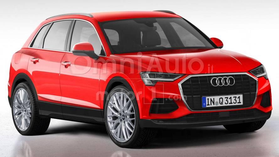 Nuova Audi Q3, il rendering