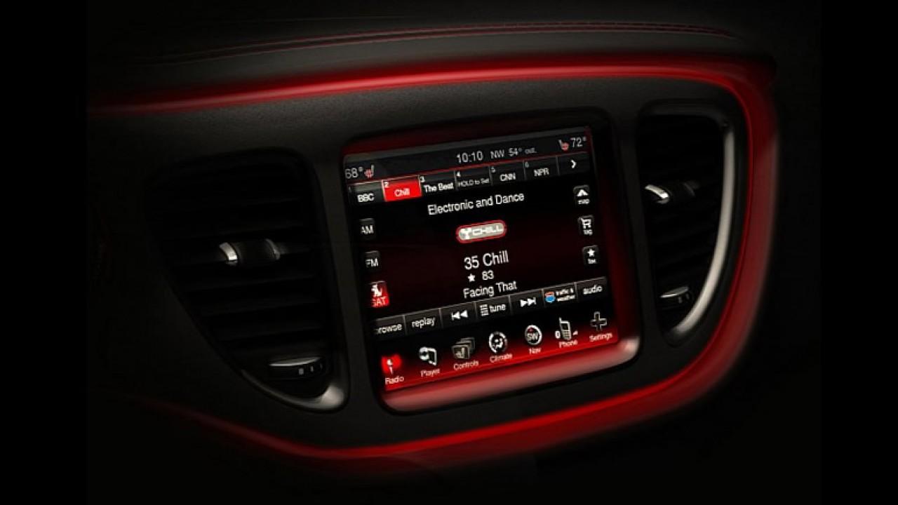 Novo Linea? Dodge Dart 2013 tem detalhes do interior revelados