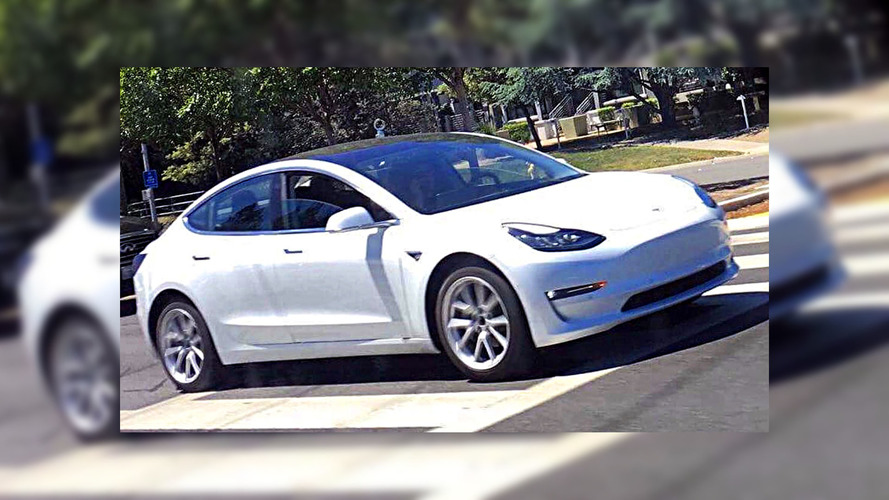 White Tesla Model 3 Spotted
