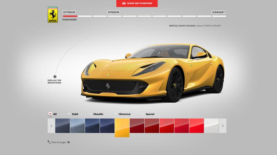 Ferrari 812 Superfast yapılandırıcısı sizi banka soymaya teşvik edebilir
