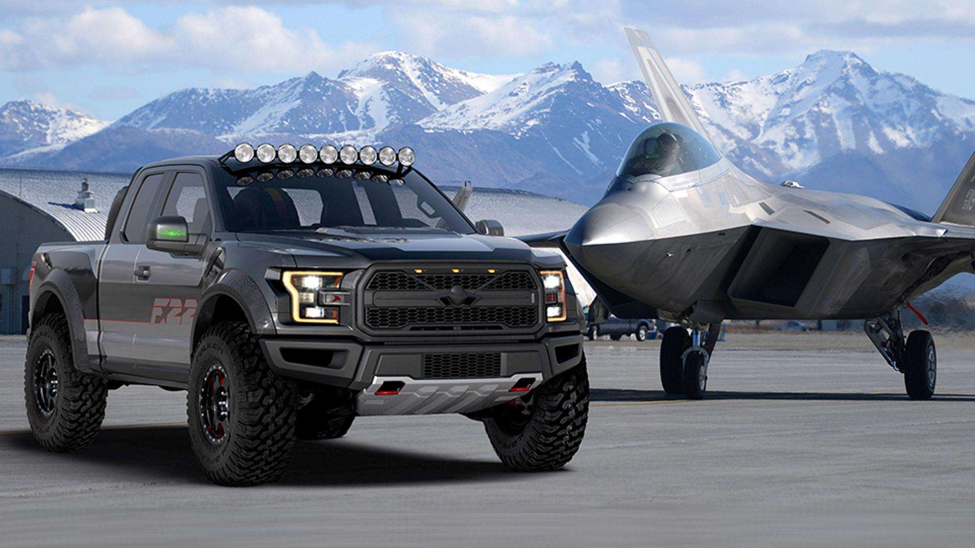 unique ford   takes     raptor  airventure charity