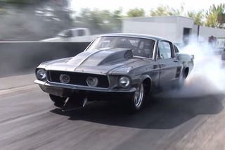 Watch this '67 Mustang With a 2,500HP Chevy V8 Tear It Up