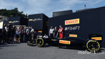 Pirelli reveal a mock up of what a 2017 F1 car