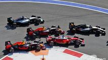 Daniil Kvyat, Red Bull Racing RB12 crashes into Sebastian Vettel, Ferrari SF16-H at the start