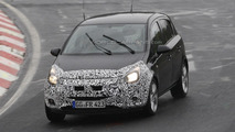 Opel Corsa facelift spy photo
