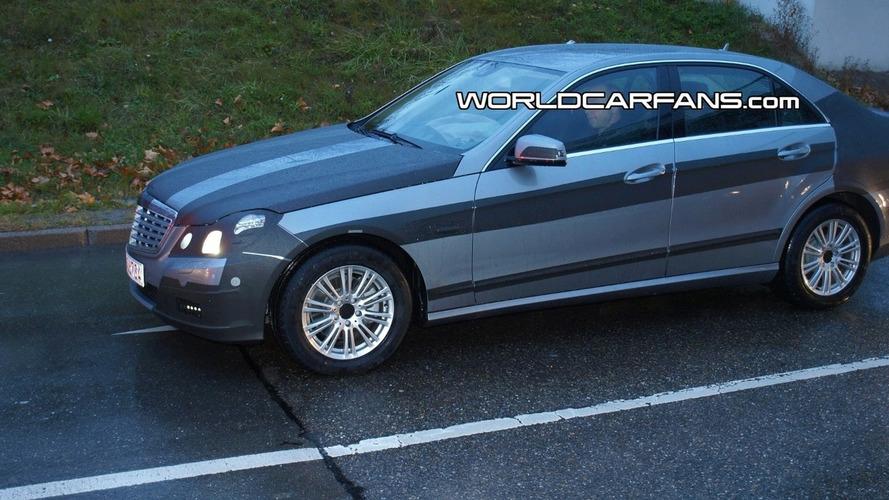 Mercedes E Class Sedan Spied with Interior Shot