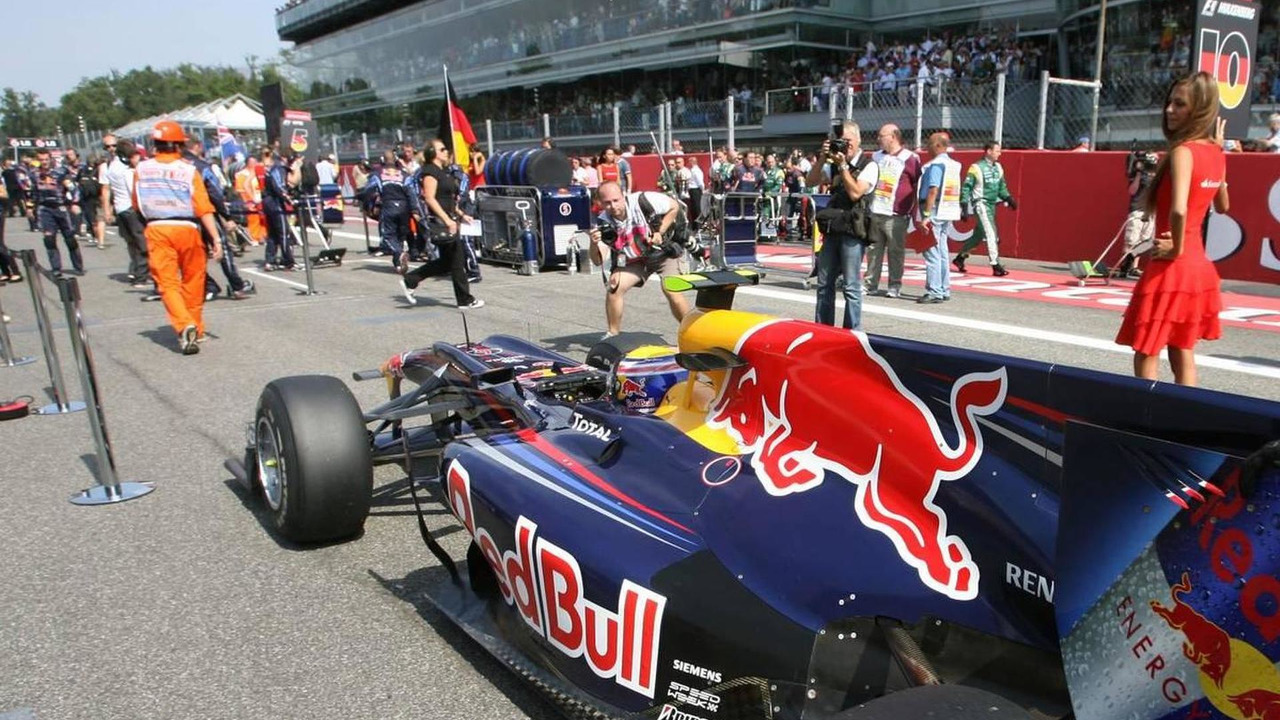 Mark Webber (AUS), Red Bull Racing - Formula 1 World Championship, Rd 14, Italian Grand Prix, Sunday Pre-Race Grid, 12.09.2010 Monza, Italy