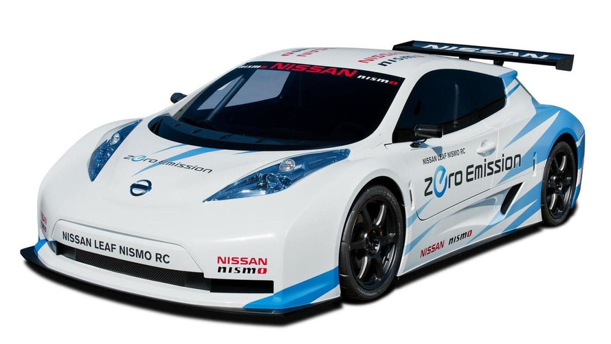 Nissan Leaf NISMO RC electric race car for the New York auto show