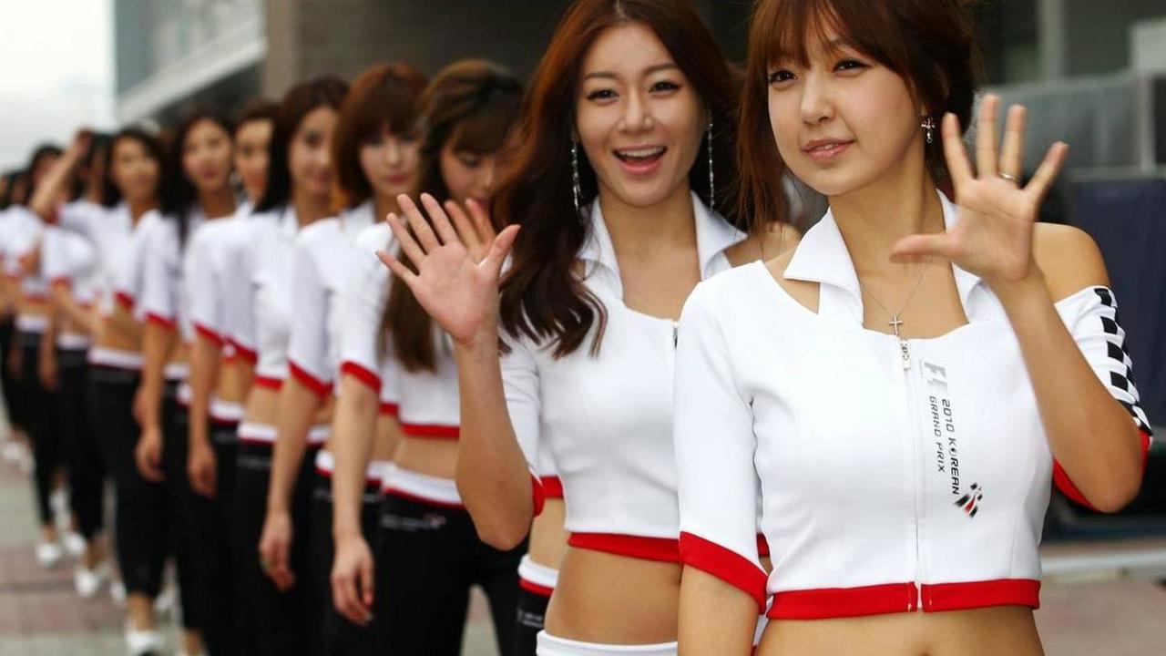 Grid girls - Formula 1 World Championship, Rd 17, Korean Grand Prix, 23.10.2010 Yeongam, Korea