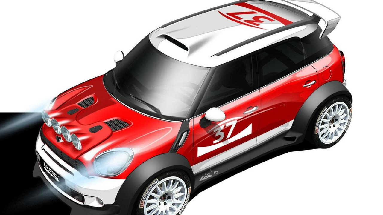 Design sketch of the MINI Countryman WRC 27.07.2010