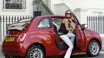 Elle McPherson with Fiat 500C