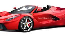 Ferrari LaFerrari Spider rendering