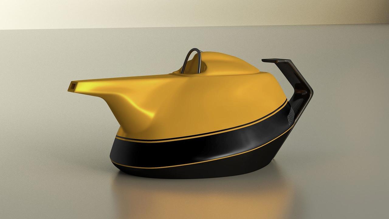 Renault Yellow Teapot