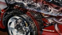 Chevrolet Corvette Indy konsepti kesit çizimi - David Kimble